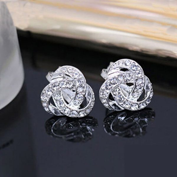 Silver Diamate Fashion Earring AE83-
