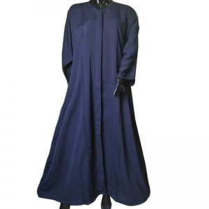 Navy Abaya Soft Nida Fabric V Neck