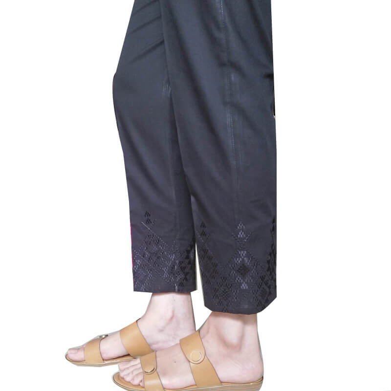 Black Embroided Trouser Pant