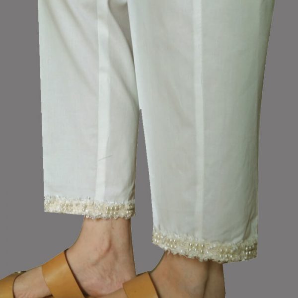 11 Off-White – Trouser Pant With Pearl Lace KT47