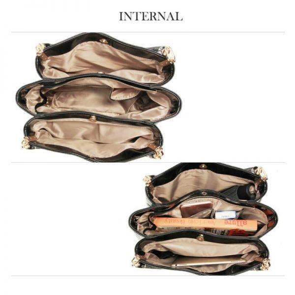 AG00243 – Black Snake – Effect Shoulder Bag-5