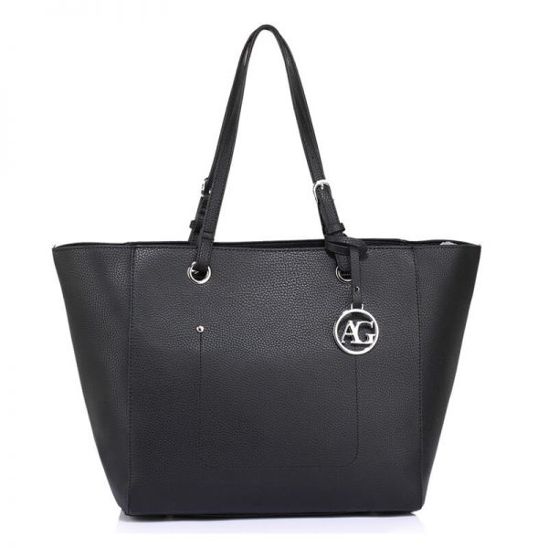 Black Large Tote Shoulder Bag