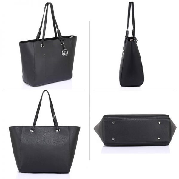 AG00532 – Black Large Tote Shoulder Bag_3_