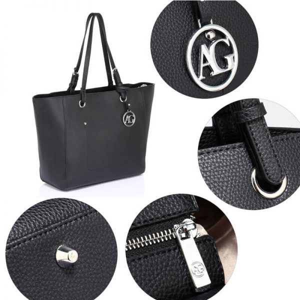 AG00532 – Black Large Tote Shoulder Bag_5_