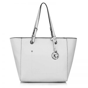 White Large Tote Shoulder Bag