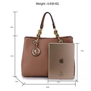 nude womens tote shoulder bag