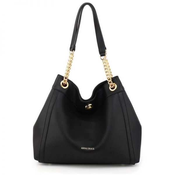 AG00561A – Black Fashion Hobo Shoulder Bag_1_