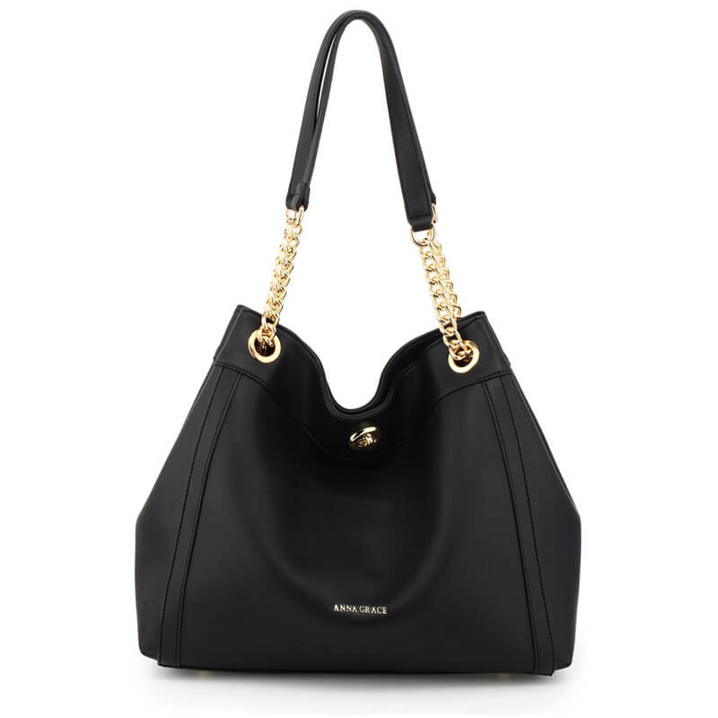 Black Fashion Hobo Shoulder Bag