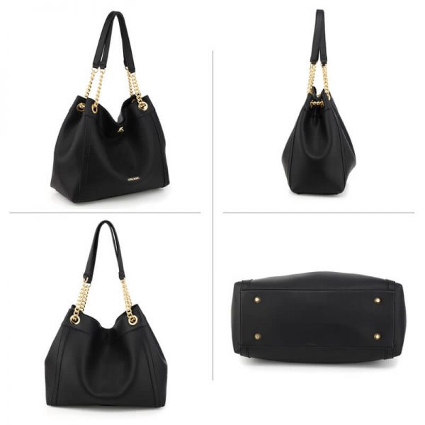 AG00561A – Black Fashion Hobo Shoulder Bag_3_