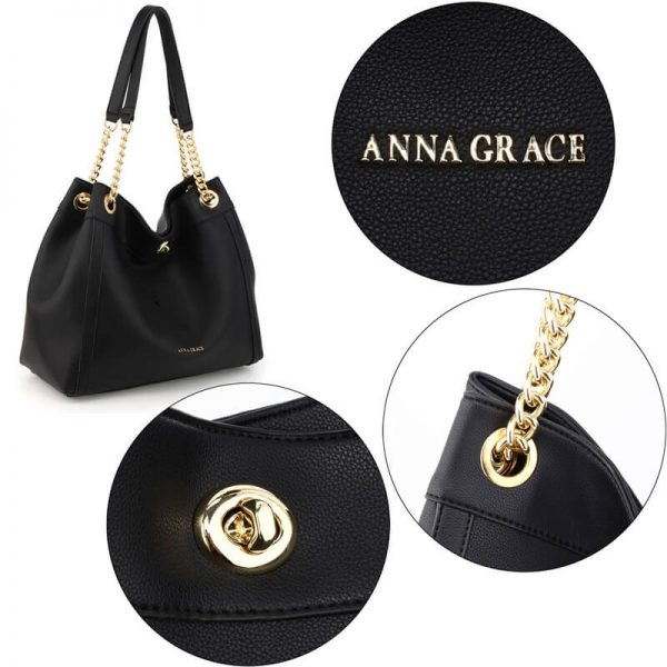 AG00561A – Black Fashion Hobo Shoulder Bag_5_