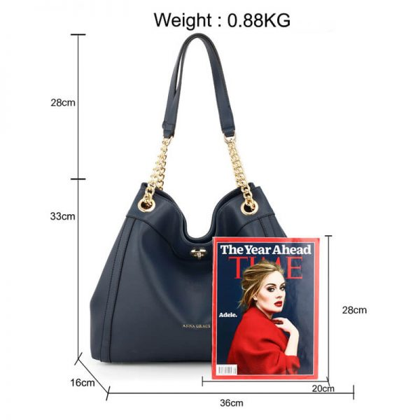AG00561A – Navy Fashion Hobo Shoulder Bag_2_