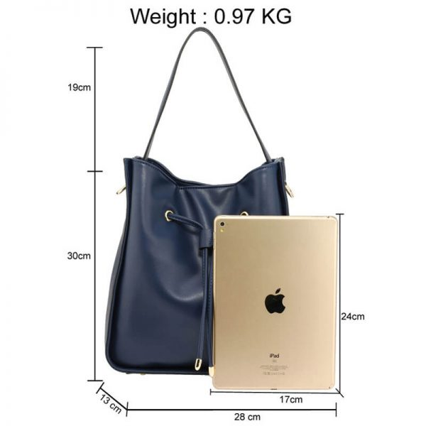 AG00591M – Navy Drawstring Tote Bag With Pouch_2_