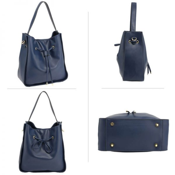 AG00591M – Navy Drawstring Tote Bag With Pouch_3_
