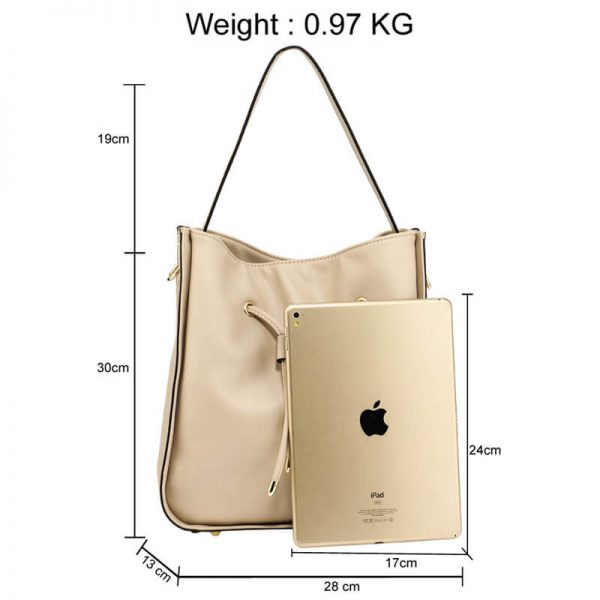 AG00591M – Nude Drawstring Tote Bag With Pouch_2_