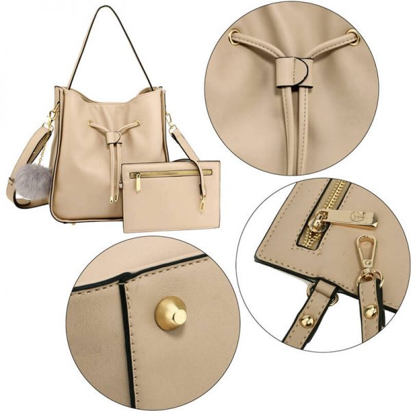 AG00591M – Nude Drawstring Tote Bag With Pouch_5_