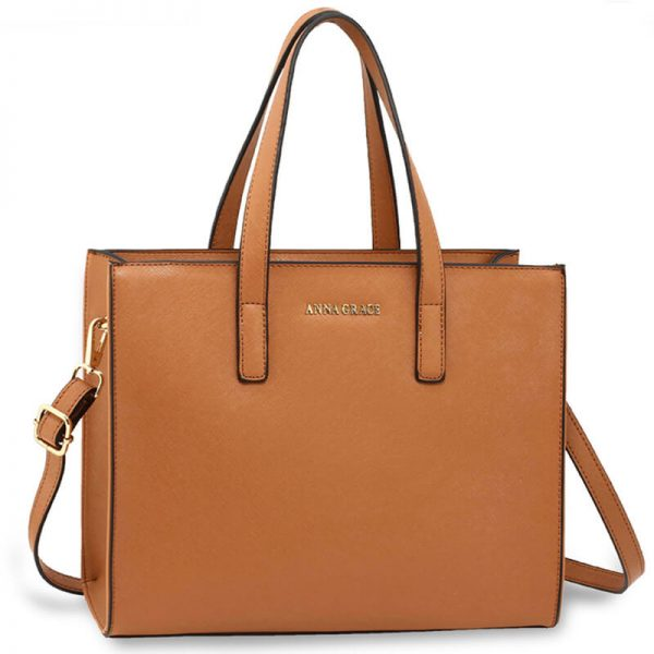 Brown Anna Grace Fashion Tote Bag