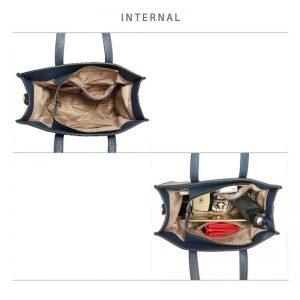 Navy Anna Grace Fashion Tote Bag