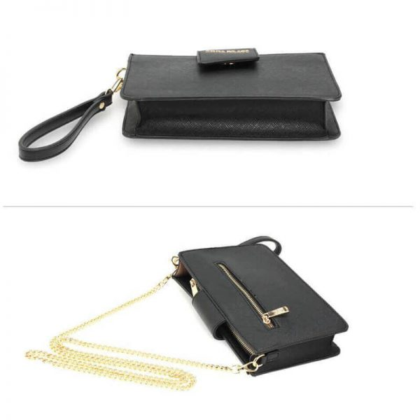 AG00593 – black Cross Body Shoulder Bag With Wristlet_3_