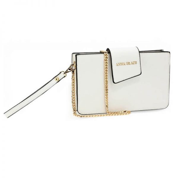 AG00593 – white Cross Body Shoulder Bag With Wristlet1_