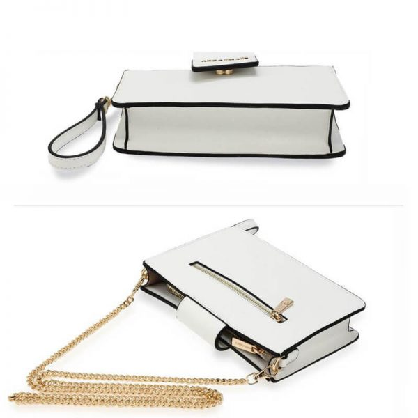 AG00593 – white Cross Body Shoulder Bag With Wristlet3_