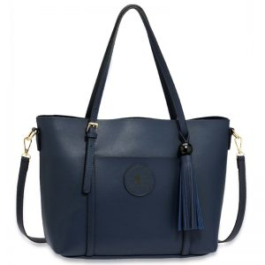 ec3266bd01de Navy Anna Grace Fashion Tote Bag With Tassel ...