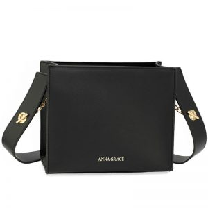 Black Anna Grace Fashion Tote Bag