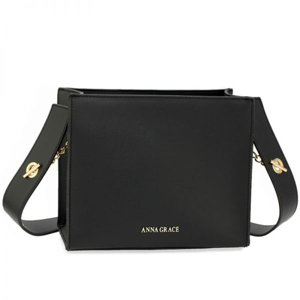 AG00596 – Black Anna Grace Fashion Tote Bag