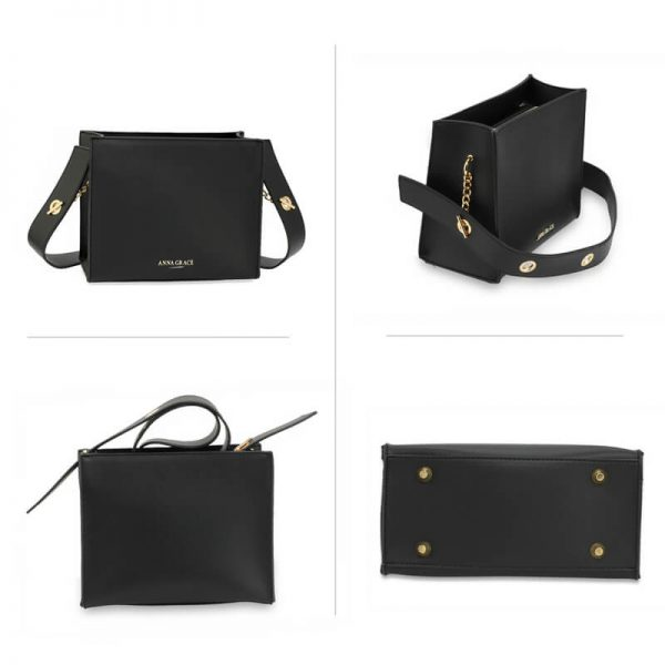 AG00596 – Black Anna Grace Fashion Tote Bag_3_