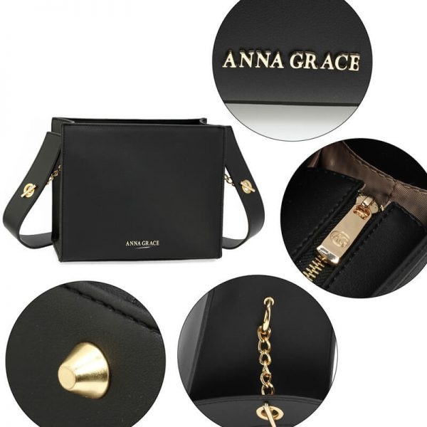 AG00596 – Black Anna Grace Fashion Tote Bag_5_