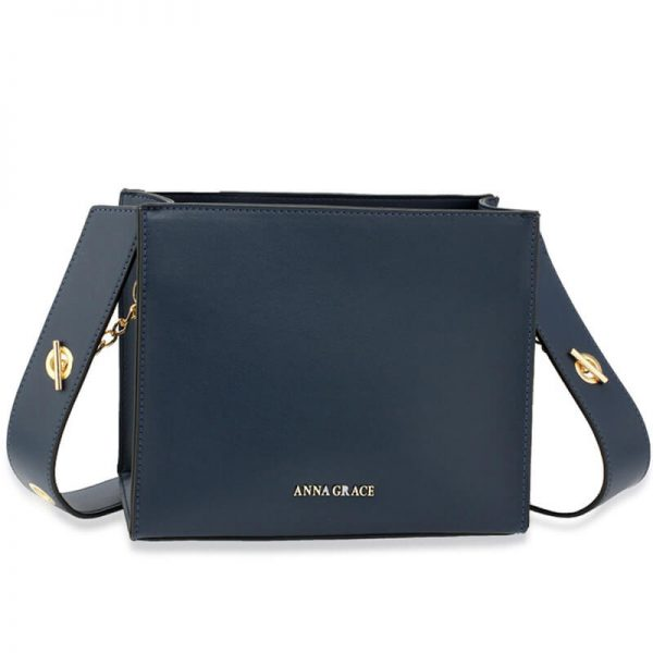 AG00596 – Navy Anna Grace Fashion Tote Bag