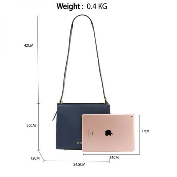AG00596 – Navy Anna Grace Fashion Tote Bag_2_
