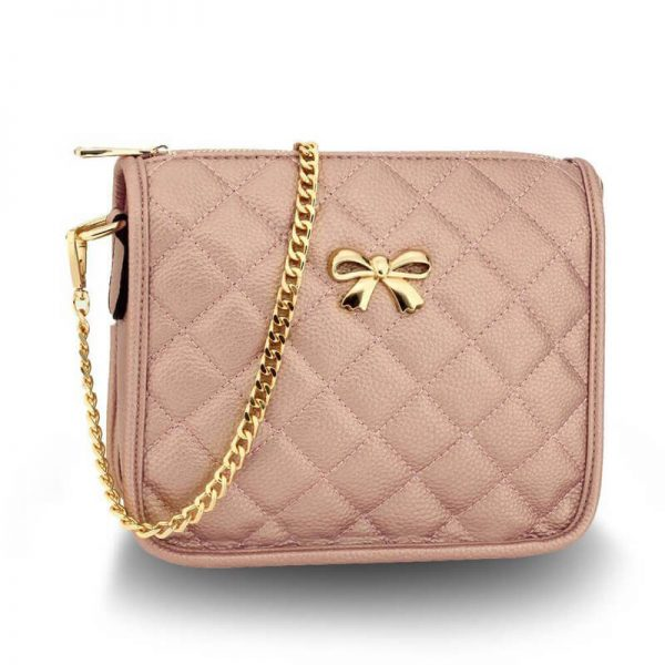 AG00598 champagne Cross Body Shoulder Bag