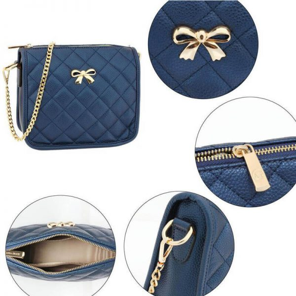 AG00598 navy Cross Body Shoulder Bag5_