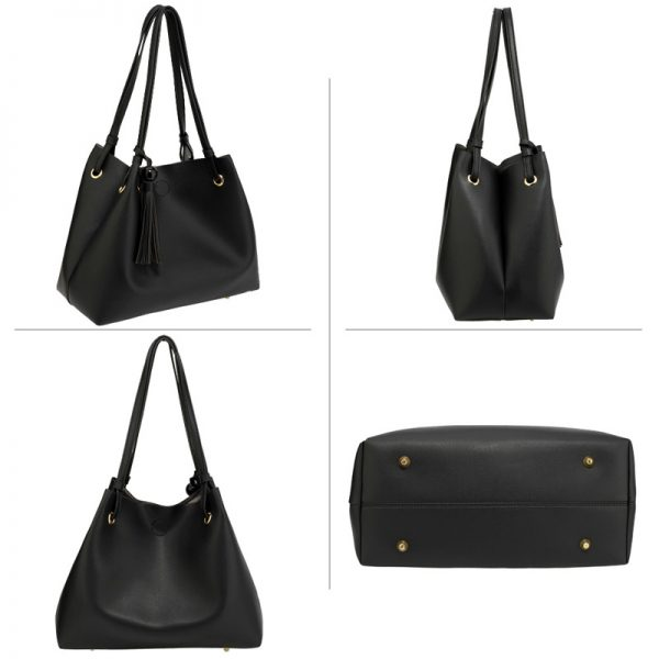AG00611 – Black Fashion Hobo Bag With Pouch _4_