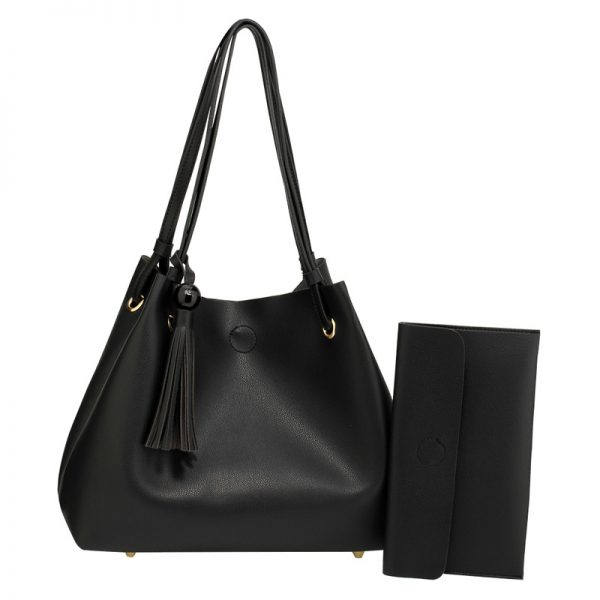 AG00611 – Black Fashion Hobo Bag With Pouch_1_