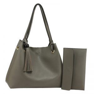 Grey Fashion Hobo Bag With Pouch