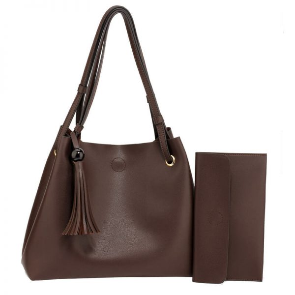 AG00611 – Tan Fashion Hobo Bag With Pouch