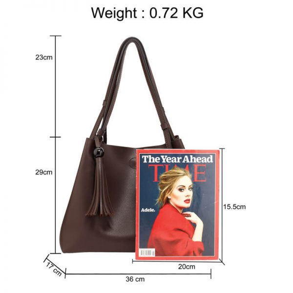 AG00611 – Tan Fashion Hobo Bag With Pouch _2_