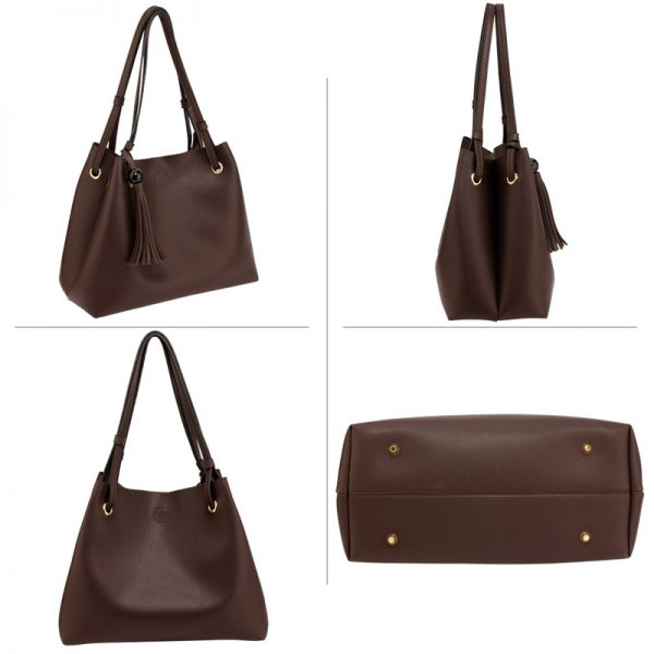 AG00611 – Tan Fashion Hobo Bag With Pouch _4_