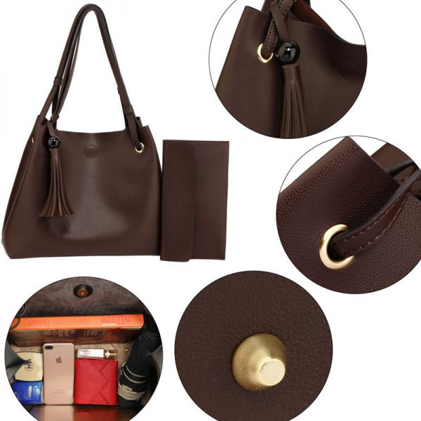 AG00611 – Tan Fashion Hobo Bag With Pouch _5_