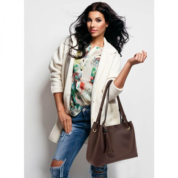 AG00611 – Tan Fashion Hobo Bag With Pouch _6_