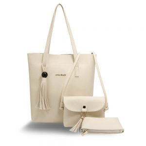 3 Pieces Set Beige Womens Fashion Handbags