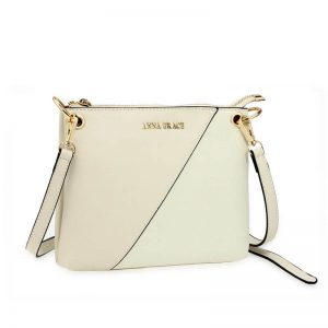 Beige Anna Grace Cross Body Shoulder Bag
