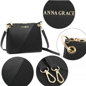 Black Anna Grace Cross Body Shoulder Bag