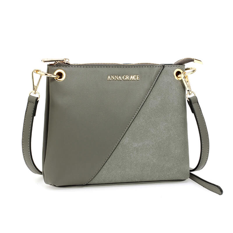 Grey Anna Grace Cross Body Shoulder Bag