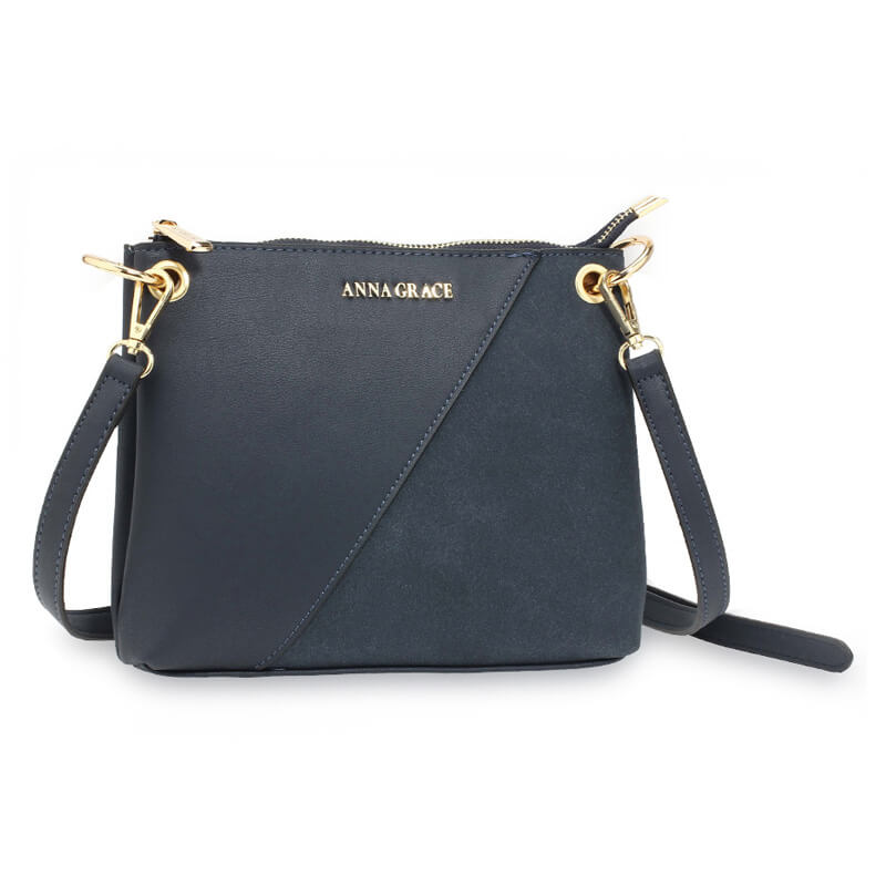 Navy Anna Grace Cross Body Shoulder Bag