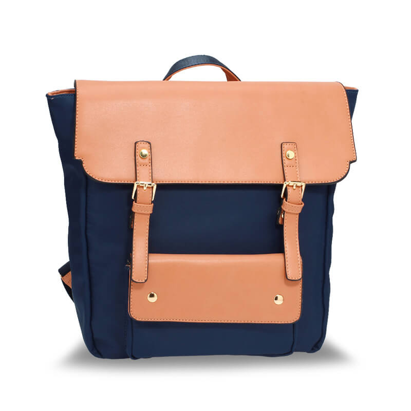 Navy Nude Backpack Rucksack School Bag