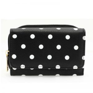 Black Polka Dot Design Purs Walle