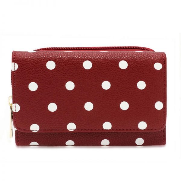 AGP1045B_Red Polka Dot Design Purs Wallet