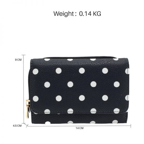 AGP1045B_navy Polka Dot Design Purs Wallet_2_